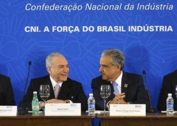 Brasília - O presidente interino Michel Temer participa da reunião do Comitê de Líderes da Mobilização Empresarial pela Inovação (MEI) na sede da Confederação Nacional da Indústria (CNI) (Antonio Cruz/Agência Brasil)