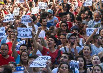 Ato contra o presidente Michel Temer