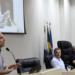 Prefeito de Macaé, Dr. Aluízio, durante audiência pública na Câmara de Vereadores