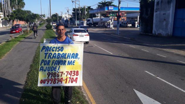 Motorista desempregado na cidade de Campos dos Goytacazes (RJ), André Luiz Mota Caetano | Foto: Paulo Damasceno