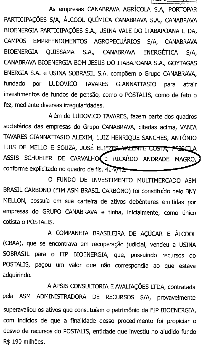 Ricardo Andrade Magro e Ludovico Tavares Giannattasio no quadro societário da Usina Canabrava