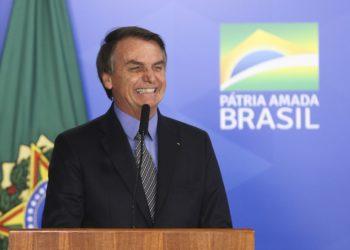 Jair Bolsonaro durante cerimônia de sanção da Lei de Liberdade Econômica