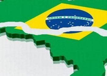Bandeira simbolizando o Brasil fragmentado