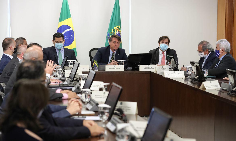 Reunião virtual de Bolsonaro com governadores
