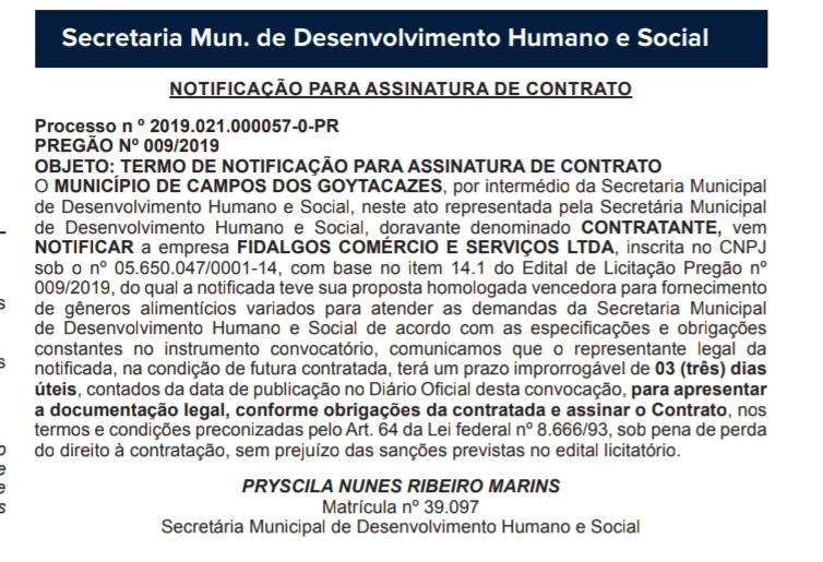 Diário Oficial Campos-RJ