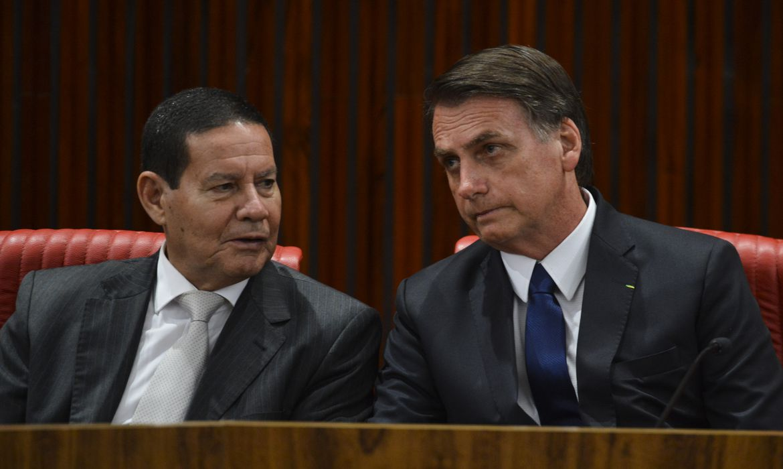 Hamilton Mourão e Bolsonaro