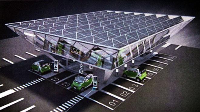 ônibus movido a energia solar na Síria