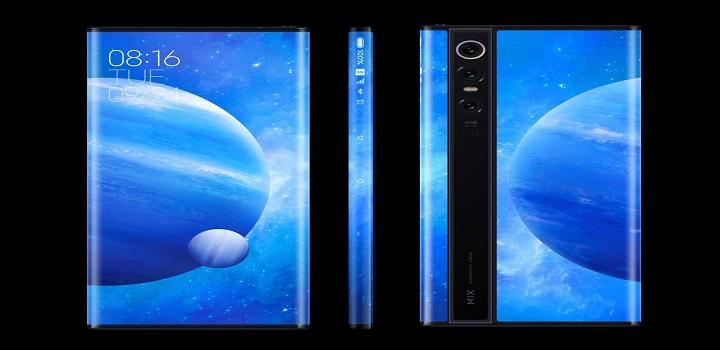 Celular chinês trazia curiosa tela em formato 360º.