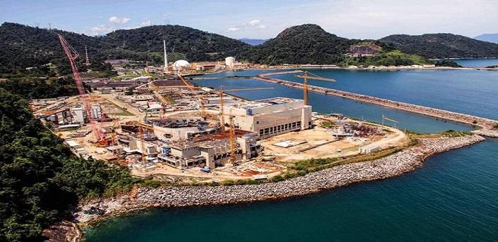 Obra inacabada da usina nuclear de Angra 3