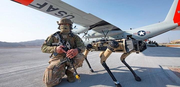 Forças dos EUA estão perto de usar cães-robôs em campos de batalha.