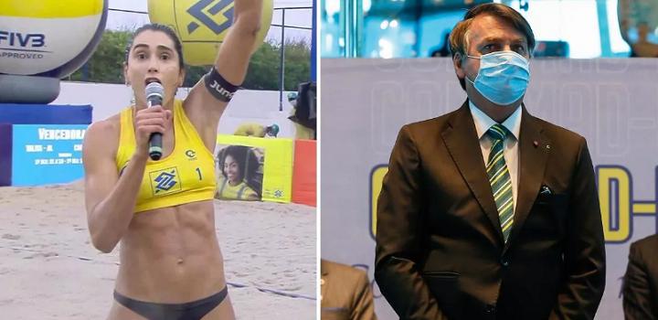 Atleta de vôlei de praia Carol Solberg foi denunciada nesta segunda-feira (28)