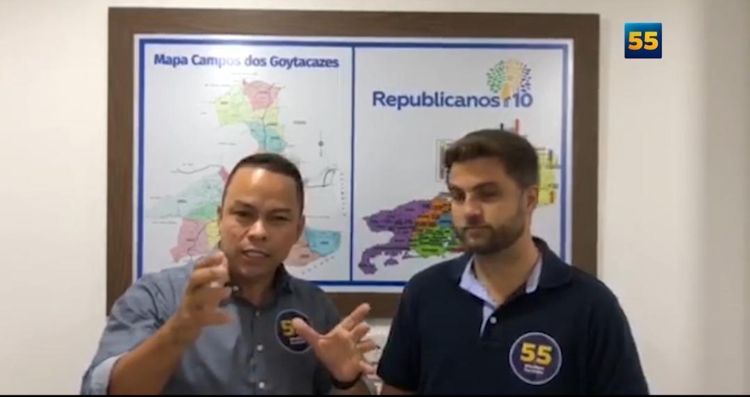 Wladimir Garotinho e pastor Anderson Matos