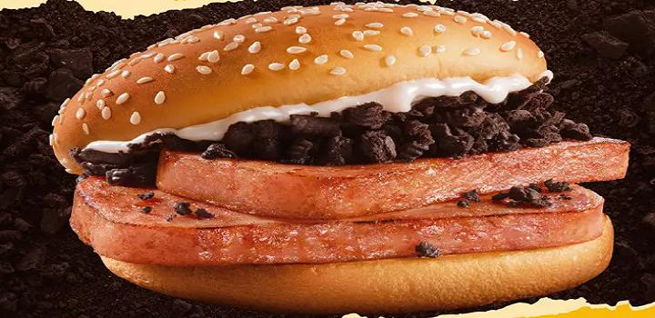 Mcdonalds chines carne de porco com oreo