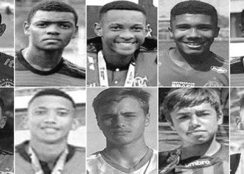Jogadores do Flamengo Vítimas do incendio no Ninho do Urubu