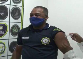 Guarda municipal em Campos: Vacinação da equipe começou nesta terça-feira (30) e continua nesta quarta-feira (31).