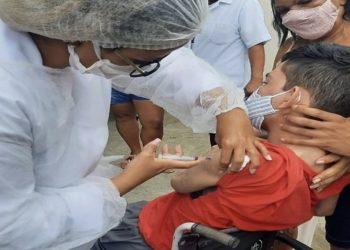 Campos, no Norte Fluminense, começou,nesta quarta-feira (21), a vacinação contra a Covid-19 para pessoas com deficiência.