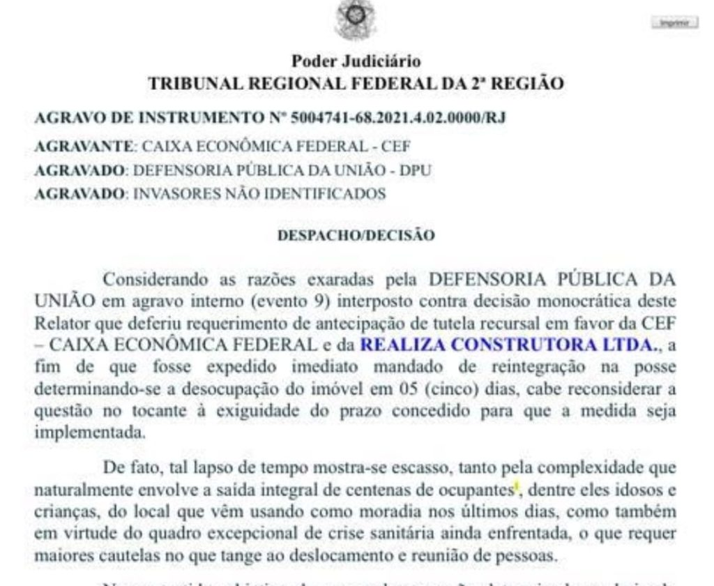 Decisão do TRF4 - conjunto Novo Horizonte