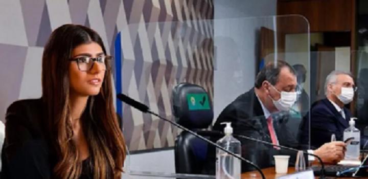 Mia Khalifa posta montagem dela própria na CPI da Covid