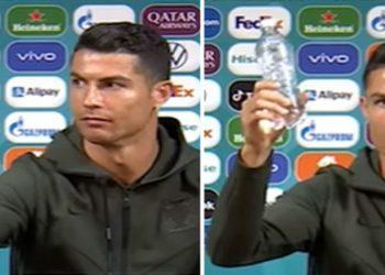 Cristiano Ronaldo recomenda beber água e não Coca-Cola