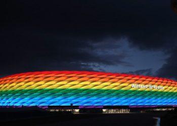 UEFA rejeita estádio com cores de arco íris