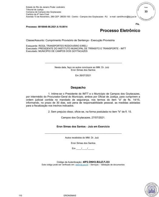 Decisão judicial favorece empresa Rogil em Campos-RJ