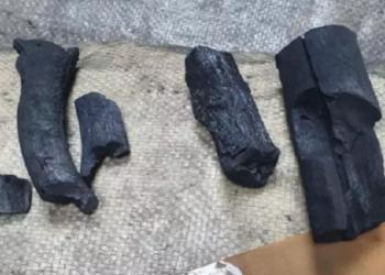 Cocaína disfarçada de carvão vale R$ 35 milhões de euros
