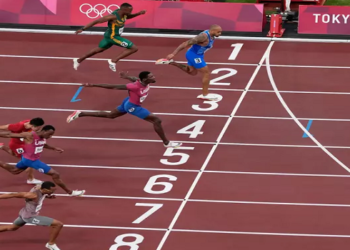 Marcel Jacobs vence 100 m rasos em Tóquio