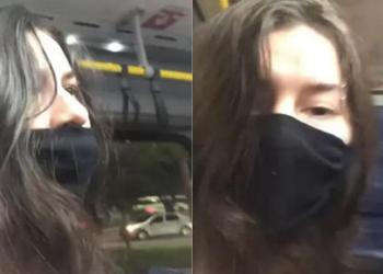 vítima expulsou o assediador do coletivo e publicou o vídeo em sua rede social
