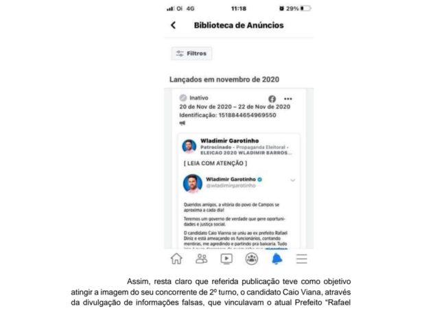 AIJE contra Wladimir Garotinho apresenta provas de Fake News nas eleições