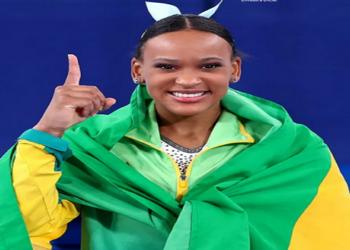 Rebeca Andrade é ouro nas Olimpíadas — Foto: Ricardo Bufolin/ Panamerica Press / CBG
