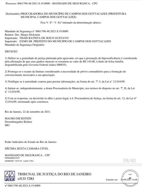 Campos-RJ: TJRJ manda prefeitura entregar documentos sobre contrato suspeito