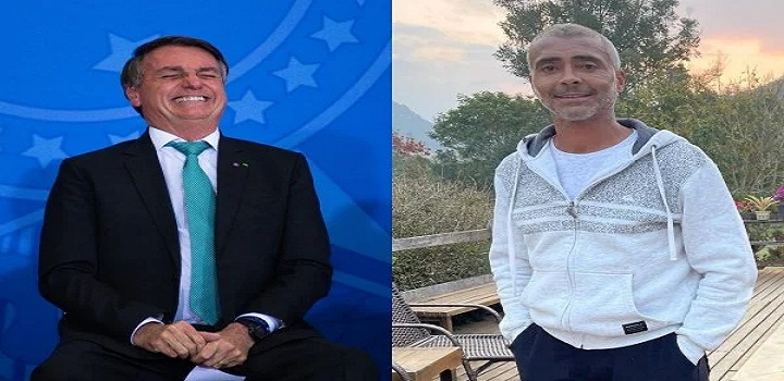 Romário reafirma voto em Bolsonaro