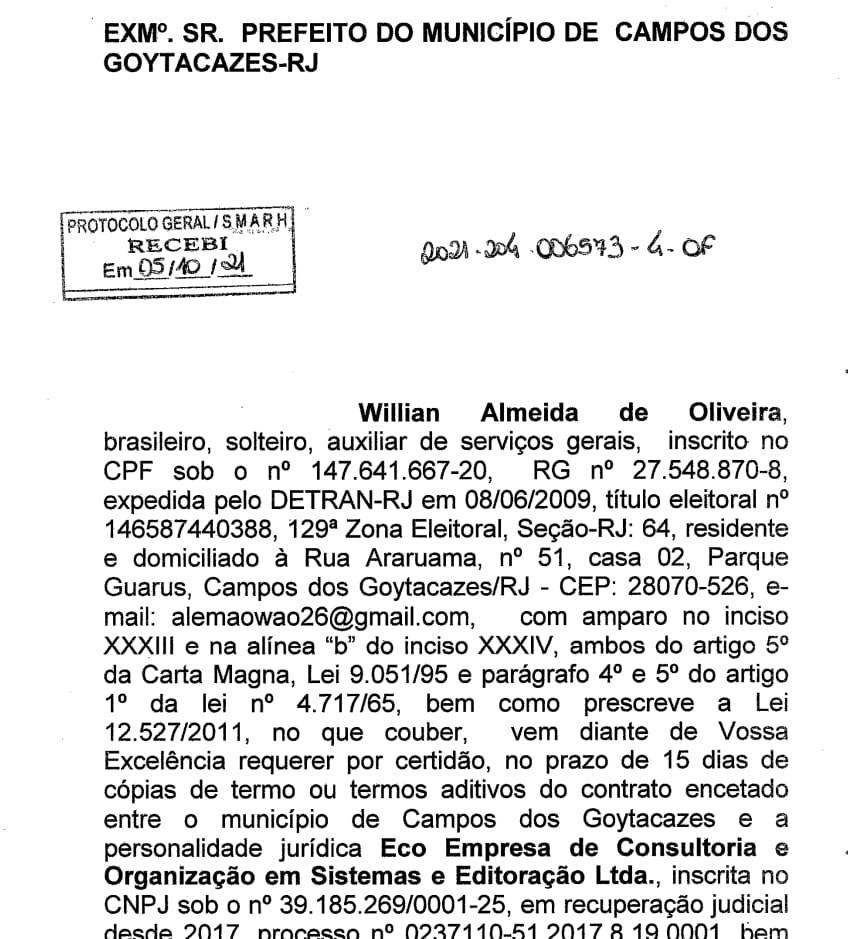 Saúde de Campos-RJ: Prefeitura aluga software que Ministério da Saúde oferta de graça